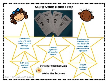 Sight Word Trifold Booklets Levels A-5 BUNDLE
