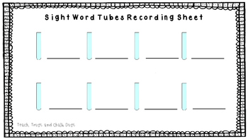 Sight Word Tubes