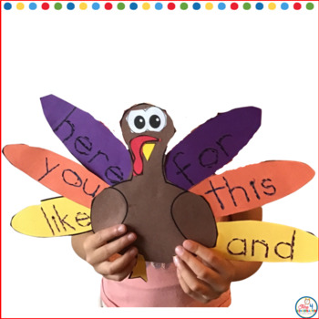 Sight Word Turkey Craft: Editable