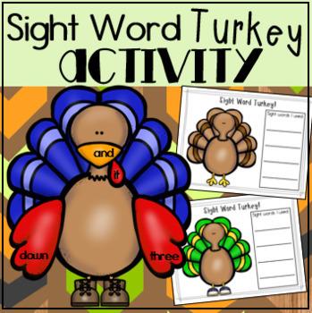 Sight Word Turkey Thanksgiving Literacy Center