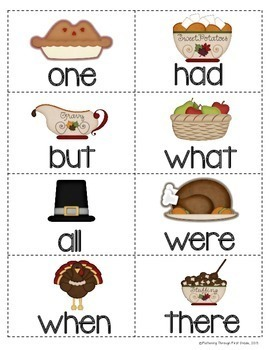"""Sight Word Activities """"Turkey Trot"""" - Sight Words Reading Game"""