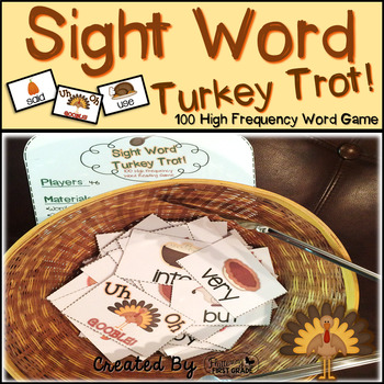 "Sight Word Activities ""Turkey Trot"" - Sight Words Reading Game"