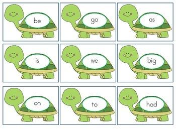 Sight Word Turtles