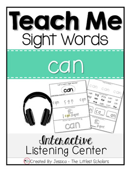 Teach Me Sight Words: CAN [Interactive Center with Printables and Audio]