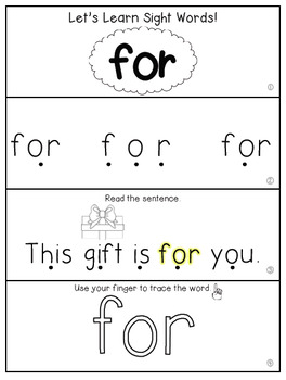 Teach Me Sight Words: FOR [Interactive Center with Printables and Audio]