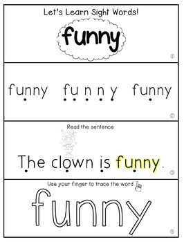 Teach Me Sight Words: FUNNY [Interactive Center with Printables and Audio]