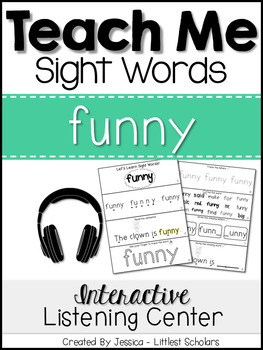 Teach Me Sight Words: FUNNY [Interactive Center with Print