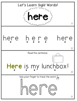 Teach Me Sight Words: HERE [Interactive Center with ...