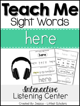 Teach Me Sight Words: HERE [Interactive Center with Printa