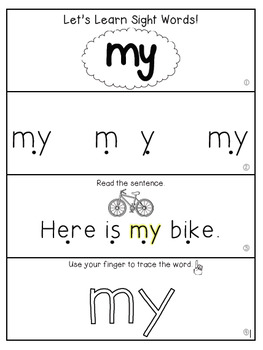 Teach Me Sight Words: MY [Interactive Center with Printables and Audio]