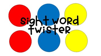 Sight Word Twister Review First 100 Words!