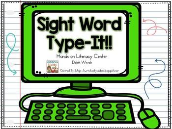 Sight Word - Type-It