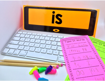 Sight Word Type It, Read It, Write It! Literacy Station Dolch PRIMER