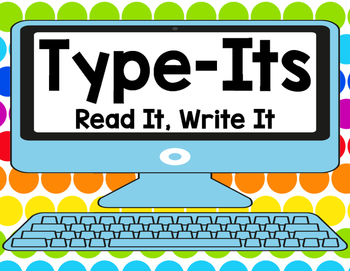 Sight Word Type It, Read It, Write It! Literacy Station Dolch SECOND GRADE