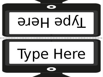 Sight Word Type It, Read It, Write It! Literacy Station EDITABLE