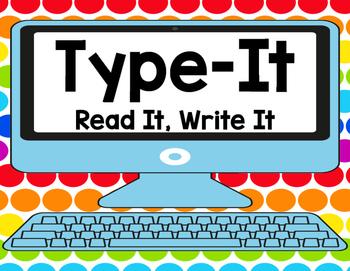 Sight Word Type It, Read It, Write It! Literacy Station Do