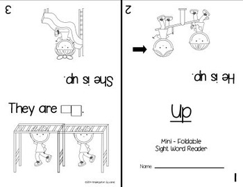 Sight Word: UP - Interactive Flap Book, Reader, and More!