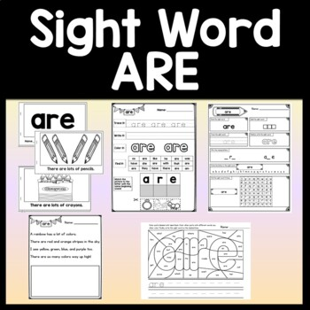 Sight Word USE {2 Sight Word Books and 4 Worksheets!}