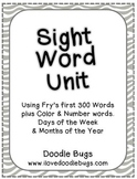 Sight Word Unit: Fry's first 300 Words, Color, Number, Days & Months