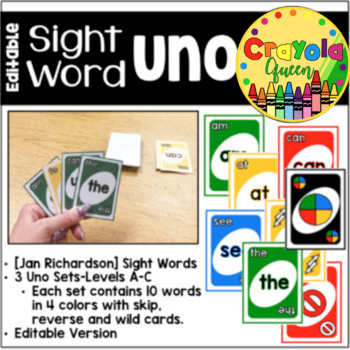 Sight Word Uno