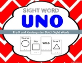 Sight Word Uno - Dolch Pre-K and Kindergarten Sight Words