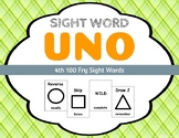 Sight Word Uno - Fry 4th (Fourth) 100 Sight Words