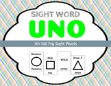 Sight Word Uno - Fry 7th (Seventh) 100 Sight Words