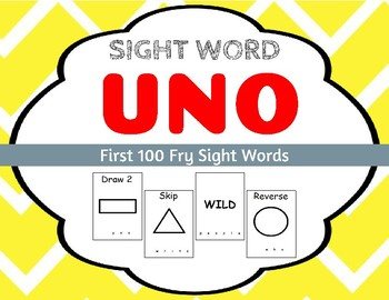 Sight Word Uno - Fry First 100 Sight Words