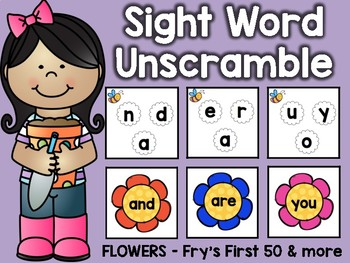 Sight Word Unscramble: April