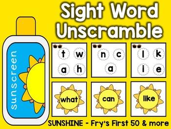 Sight Word Unscramble: May
