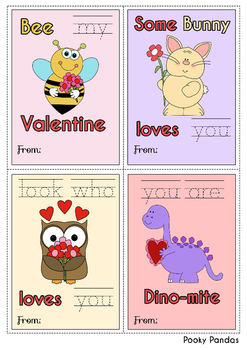 Sight Word Valentine's Day Cards