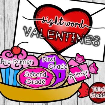 Sight Word Valentines: BUNDLE!