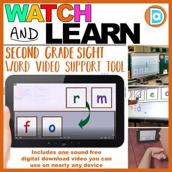 RTI | Second Grade Sight Word Fluency Tool | Form