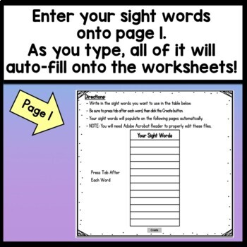Sight Word WAS {2 Sight Word Books and 4 Worksheets!}