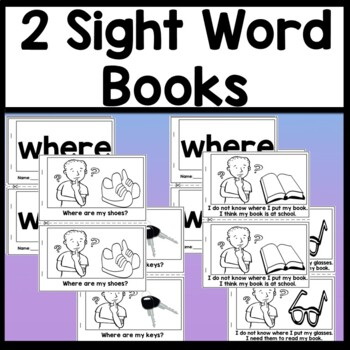 Sight Word WHERE {2 Sight Word Books and 4 Worksheets!}