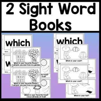 Sight Word WHICH {2 Sight Word Books and 4 Worksheets!}