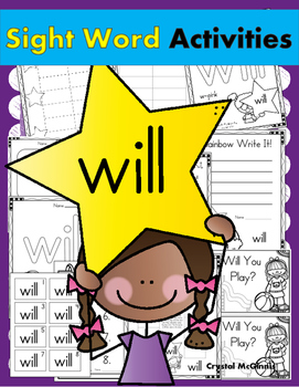 Sight Word of the Week (15 Activities for the word WILL)