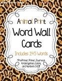 Sight Word Wall Cards (Animal Print)