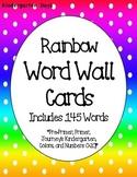 Sight Word Wall Cards (Rainbow)