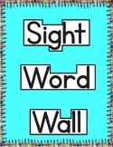 Sight Word Wall | Jan Richardson Sight Word Flash Cards Level B