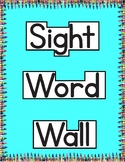 Sight Word Wall | Jan Richardson Sight Word Flash Cards Level C
