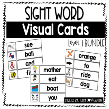 Sight Word Wall & Matching Cards Level 1 BUNDLE