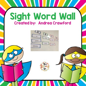 Sight Word Wall:  Primary Colors