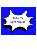 Sight Word Tracker Clip Chart