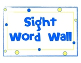 Sight Word Wall poster