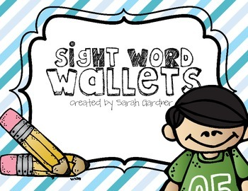 Sight Word Wallets