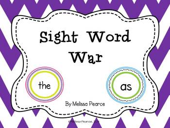 Sight Word War: A Game to Practice Sight Words