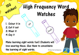Sight Word Watches First 100 Words
