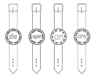 Sight Word Watches-First