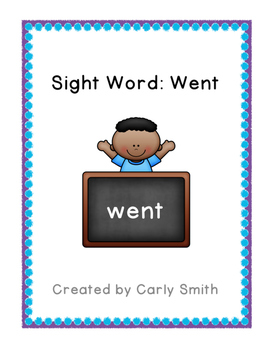 Sight Word: Went